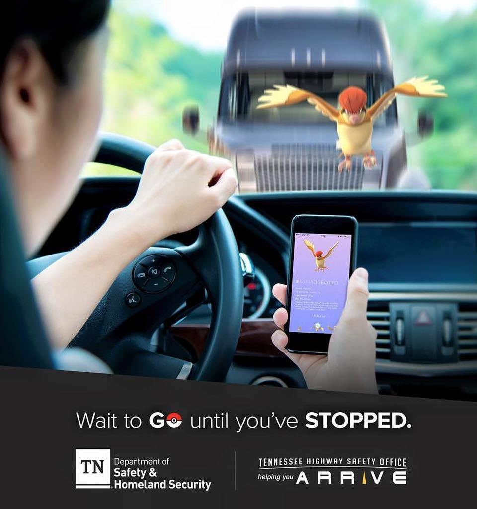 Pokémon Go : dangereux en conduisant