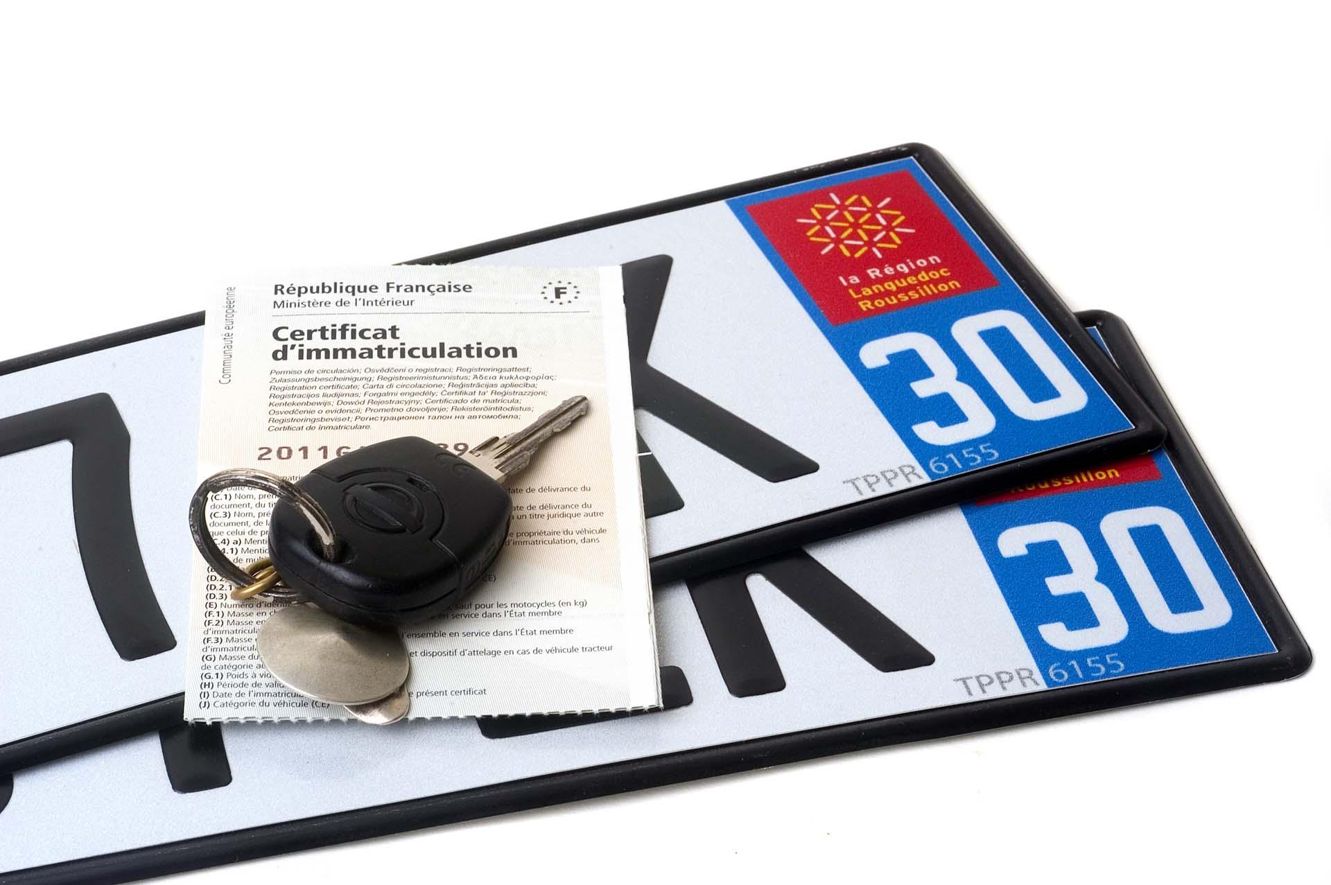 Changer le numéro du département sur ses plaques d'immatriculation